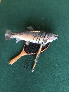 """Custom made 6'6"""", 4pc, 3wt, Moderate Action Fly Rod, Burl/resin grip"""