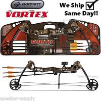 Barnett Vortex 1105 Camo Bow and Arrow Kit Set Compound Youth Kids Archery Right