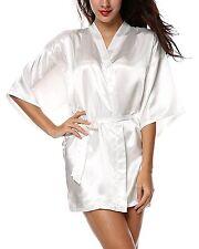 Avidlove Women's Kimono Robe Satin Lounge Short Style