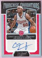 COREY MAGGETTE 2017-18 CORNERSTONES FRANCHISE FOUNDATIONS AUTO #21/49 AUTOGRAPH