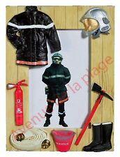 Cadre photo pompier à poser décoration soldat du feu idée cadeau neuf
