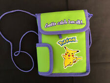 Nintendo Gameboy Pokemon Bag Case Soft Travel Green Pikachu *Vintage* Excellent