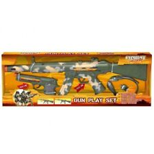 COMBAT MISSION GUN ARMY PLAYSET WITH SOUND PISTOL ASSAULT RIFLE HEADSET PLAY SET