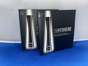 2 X IT Cosmetics Superhero Elastic Stretch Volumizing Mascara Black Travel Size