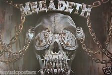 """MEGADETH """"SKULL WITH BLINDERS"""" POSTER FROM ASIA - Metal Music Legends"""