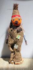 Burlap Felt Straw Scarecrow Vintage Japan Tabletop Halloween/Fall Decoration
