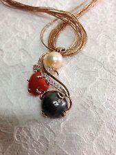 corallo e perla argento 925 - made in italy