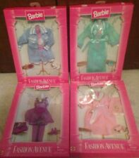 Fashion Avenue Sleepwear Pajama Fashions Lot Of 4 MIP MOC Barbie NRFB MIB New