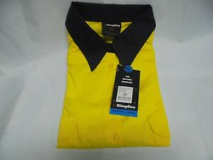 King Gee Womens Work Shirt LS Cotton Hi Vis Sizes 20 and 22