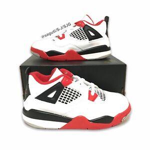 Nike Air Jordan 4 Retro (TD) 'Fire Red' 2020 Toddler Size 11c New BQ7670-160