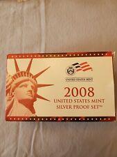 2008 US MINT SILVER PROOF SET - Complete w/ Original Box and COA