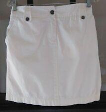 Tommy Bahama SzM 100% Cotton-Cream Color- Mini Skirt-Front Zip-Very Nice !