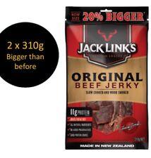 2 X 310g Jack  Link's Original Beef Jerky 620g JUMBO PACK - New Lot and Bigger
