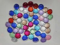 500 Mixed Color Acrylic Round Flatback Dotted Rhinestone Gem beads 6mm