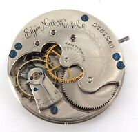 1888 ELGIN 6S 11J POCKET WATCH MOVEMENT & DIAL..