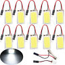 5PCS White 48 SMD COB LED T10 4W 12V Car Interior Panel Light Dome Lamp Bulb /my