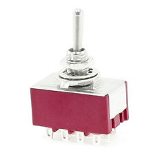 6A/125VAC 2A/250VAC 12 Pin 4PDT ON/ON 2 Position Mini Toggle Switch SY AU O Y2N1