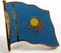 Kasastan Flaggen Pin Anstecker,1,5 cm,Kazakhstan,Neu mit Druckverschluss