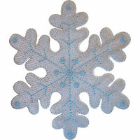 Embroidered Snowflake Iron On Patch Sew On Badge Snow XMAS Christmas Arts Crafts