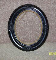Antique Black w//Gold Trim, Ornate Oval Picture Frame 14x12x1, l900