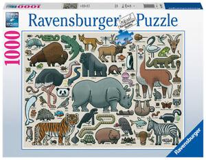 Ravensburger Puzzle 1000pc You Wild Animal 6807-1