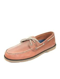 Sperry Top-Sider Men's Leeward 2-Eye Dark Tan Boat Shoes