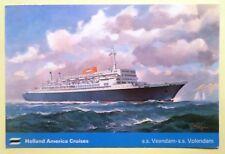 ss Volendam & Veendam . Holland America Line . Passenger Liner Cruise Ship Boat