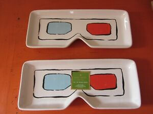 Kate Spade New York - Pop By Oblong Candy Tray x 2 - 3D Glasses - NEW