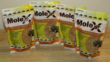 4 Lot EcoClear MoleX for Effective Control of Moles 8 oz. each bag