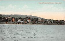 c.1910 Homes Suburbs on Hudson River Nyack NY post card Rockland county