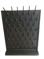Black Wall Desk Drying Rack PP 52 Pegs Lab Educational Supply Cleaning Equipment