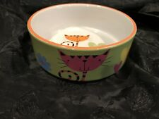 New listing Whisker City Ceramic Cat Water/ Dry Food Bowl Pre-Owned