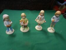 """Set of 4 GROWING UP """"Birthday Girls"""" Figures  Ages 3-4-5-6"""