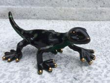 Skulptur Gecko L18cm handbemalt Porzellan Figur Lino Pinelli´s Pond Collection