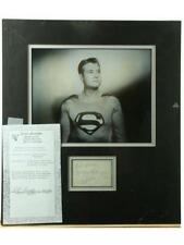 """""""Superman"""" George Reeves Matted Signed Photo Lot 230"""