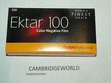 EKTAR 100 KODAK  120 COLOR NEGATIVE FILM FRESH 08/22 5 ROLLS in BOX