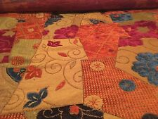 "Fabric Chenille multi colored by the yard 54"" wide heavy weight"