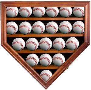 Kinbor 21 Baseball Balls Cabinet Holder Display Case Shadow Box With Lock