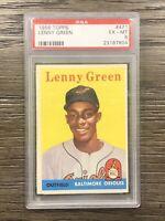 1958 Topps Baseball Lenny Green RC PSA 6 Orioles #471