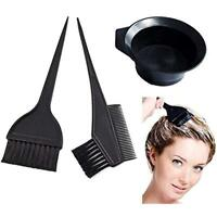 3 Pieces Salon Hair Coloring Dyeing Kit Brush Comb Mixing Bowl Tint Tool Bleach