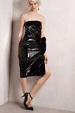 LANVIN Strapless Metallic Velvet Dress  ( Size 36- US 4)