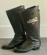 Frank Thomas Motorcycle Boots Vintage Cafe Racer  FT13 Size 6