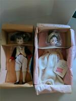 "Madame Alexander Napolean & Josephine 12"" Doll w/Boxes Never Displayed"