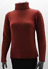 Schöner Damen Grob-Strick Pullover mit Roll-Kagen Rot Top Gr 34/36 Guter Zustand