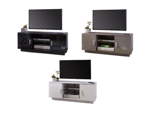 Modern TV Cabinet High Gloss Black White Grey Television Stand Suitable 50 Inch