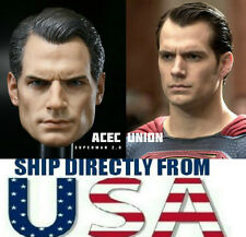 1/6 Henry Cavill Superman Head Sculpt Clark Kent 2.0 For Hot Toys U.S.A. SELLER