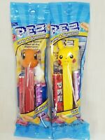 Set of 2 Pokemon PEZ Dispensers & Candy Pikachu Charmander