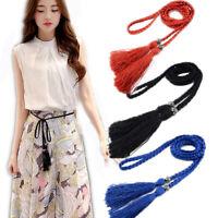 Waist Chain 1PC Braided Belt Woven Tassles Belts Waistband Waist Rope