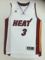 adidas Men's Miami Heat Dwyane Wade Christmas Day Swingman Jersey SMALL WHITE