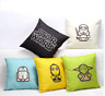 STAR WARS Cushion Covers! Retro Cartoon Movie Film Linen Pillow 45cm Gift Set